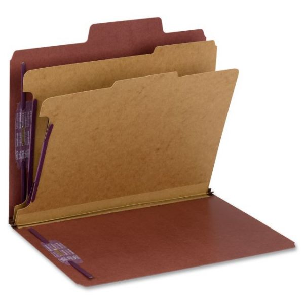 Smead SuperTab Classification Folders with SafeSHIELD Coated Fasteners