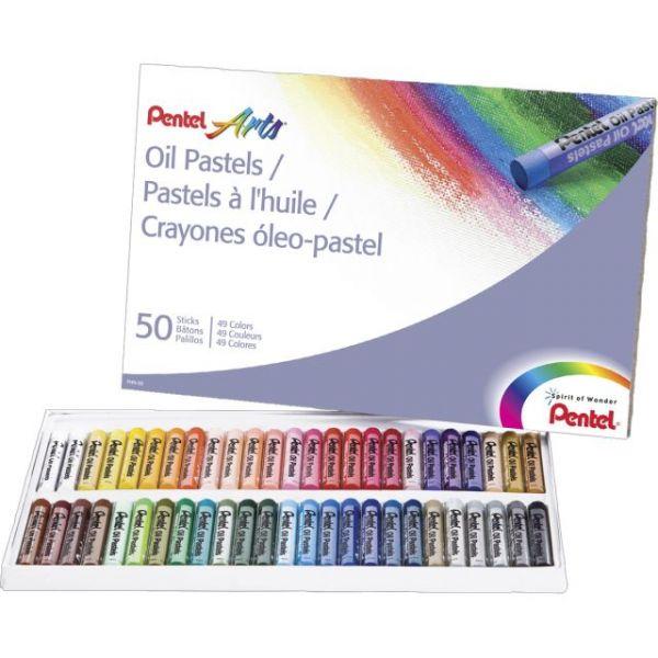 Pentel Oil Pastels 50/Pkg