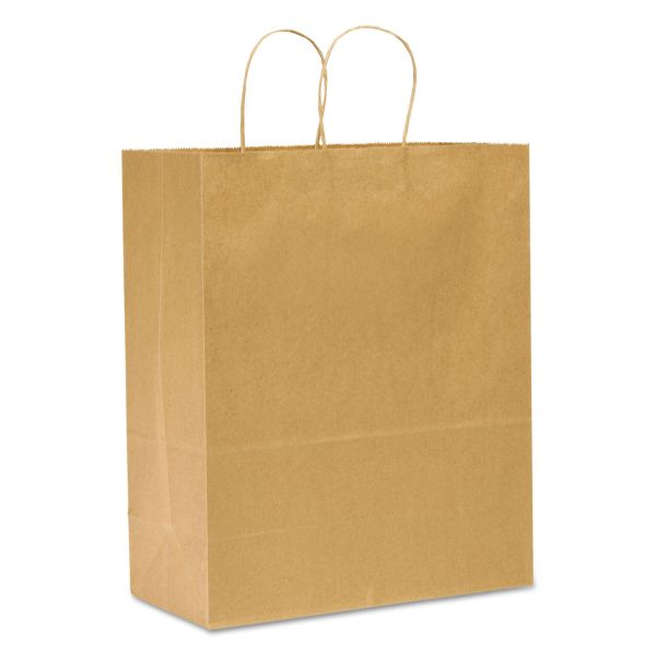 GEN Heavy-Duty Brown Paper Shopping Bags with Handles