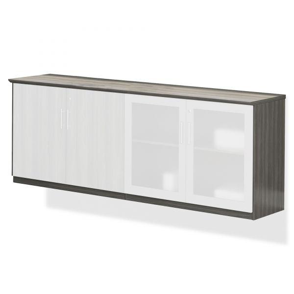 Box #1 - Mayline Medina Series Low Wall Cabinet with Doors, 72w x 20d x 29 1/2h, Gray Steel
