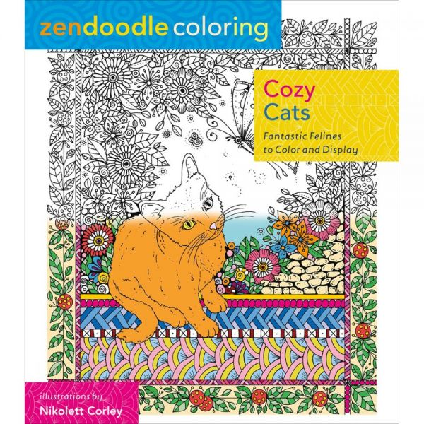 St. Martin's Books: Zendoodle Coloring Cozy Cats Coloring Book