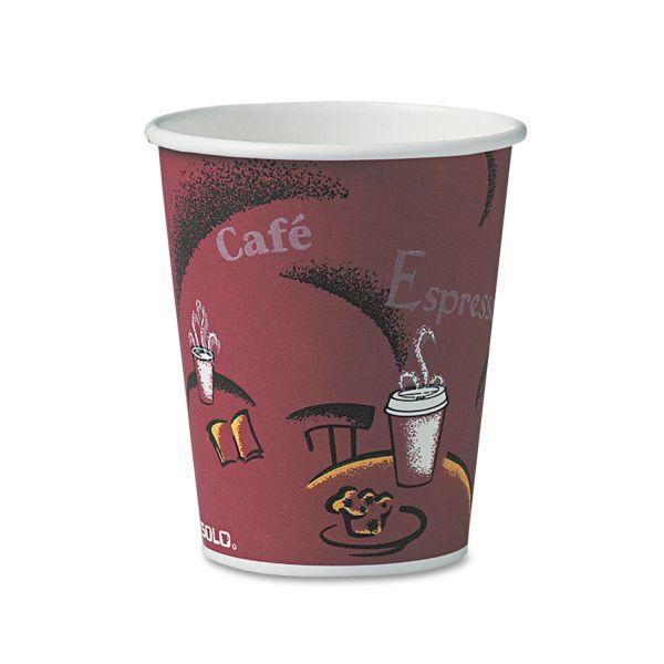 Dart Bistro Design Hot Drink Cups, Paper, 10oz, 50/Pack