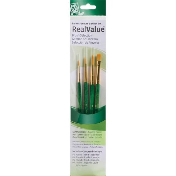 Gold Taklon Real Value Brush Set