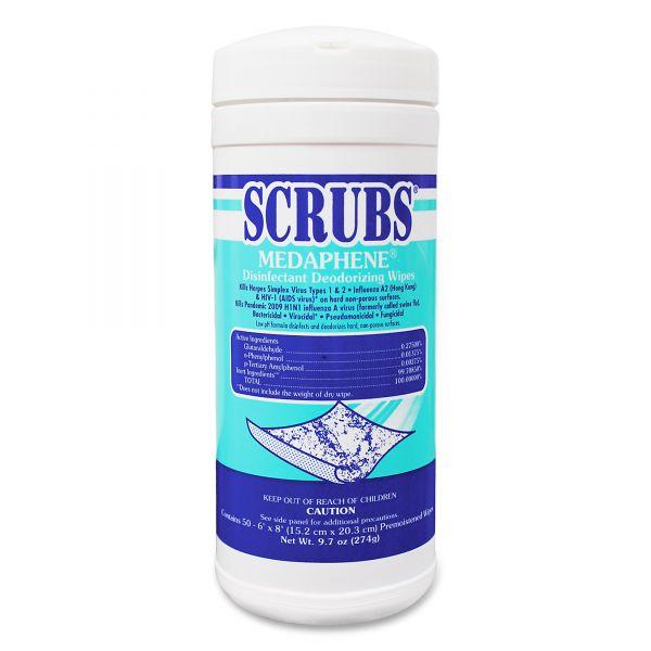 SCRUBS Medaphene Disinfectant Deodorizing Wipes