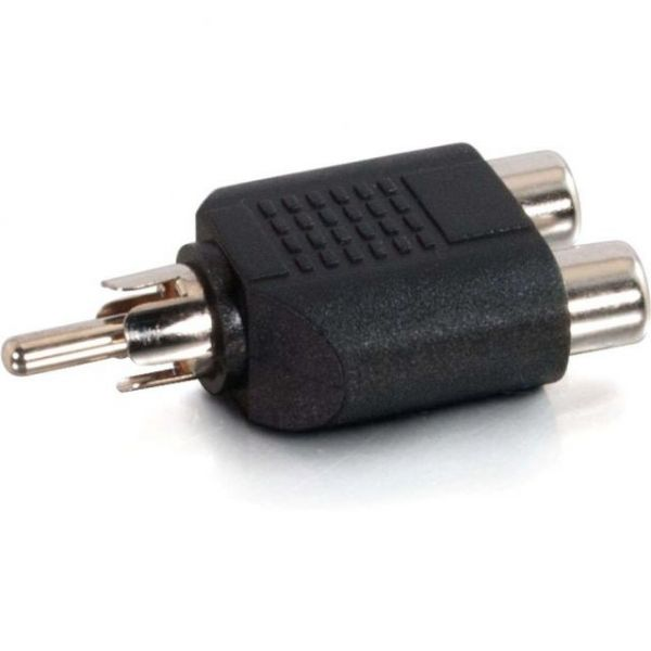 C2G One RCA Mono Male to Two RCA Mono Female Audio Adapter