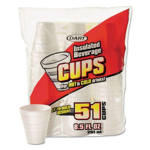 Dart Drink 8.5 oz Foam Cups