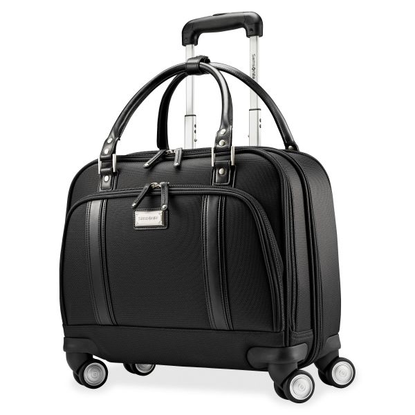 "Samsonite Carrying Case (Roller) for 15.6"" Notebook, Tablet, iPad, Document, File - Black"