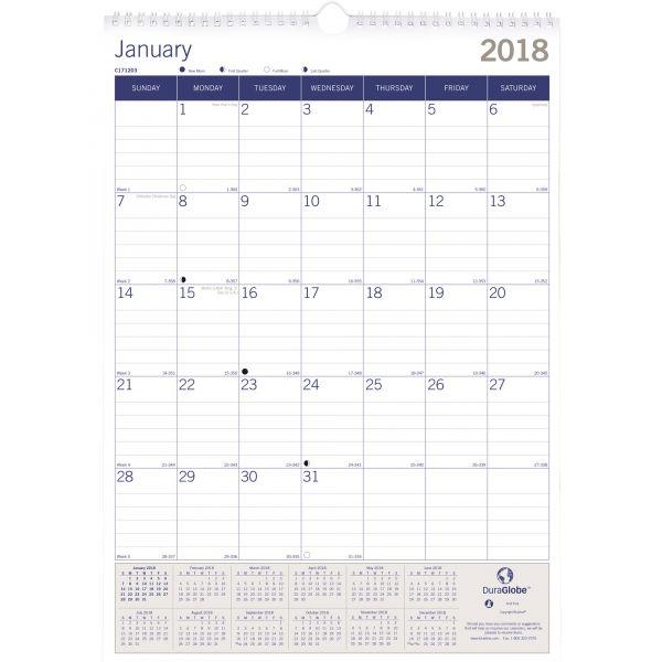 Blueline DuraGlobe Wall Calendar