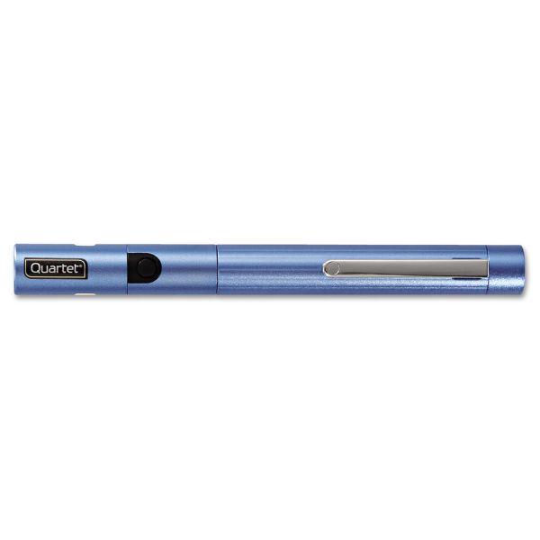 Quartet Brilliant Green Laser Pointer, Class 2, Projects 1640 ft, Blue Barrel