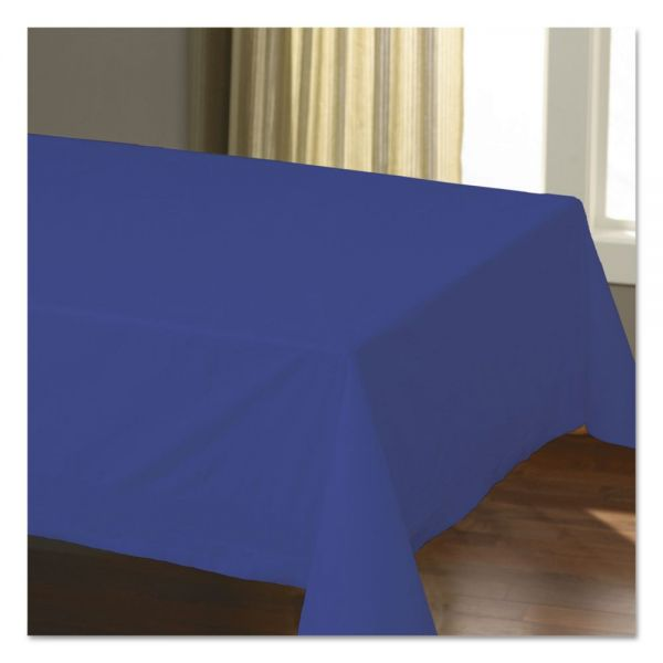 "Hoffmaster Cellutex Table Covers, Tissue/Polylined, 54"" x 108"", Navy Blue, 25/Carton"