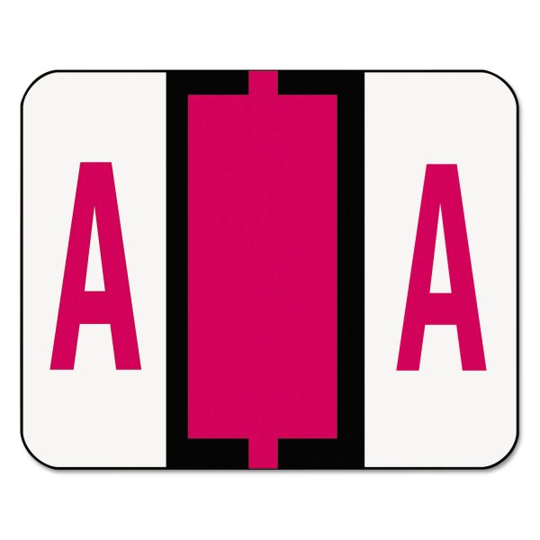 Smead BCCR Bar-Style Color-Coded Alphabetic Label - A