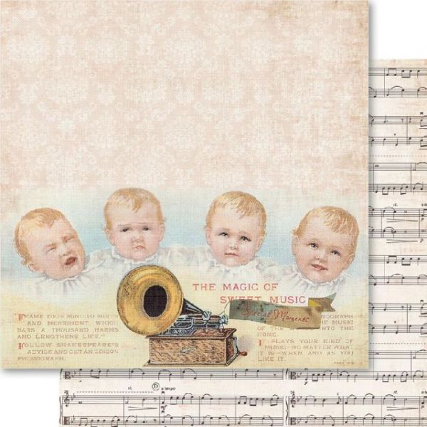 Baby Boy Double-Sided Cardstock