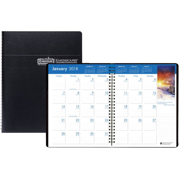 House of Doolittle Earthscapes Wirebnd Color Monthly Planner