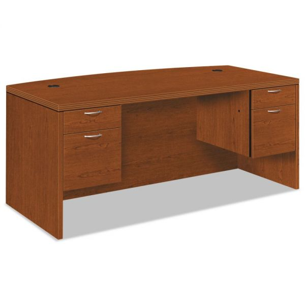 "HON Valido Double Pedestal Desk | Bow Top | 2 Box / 2 File Drawers | 72""W"