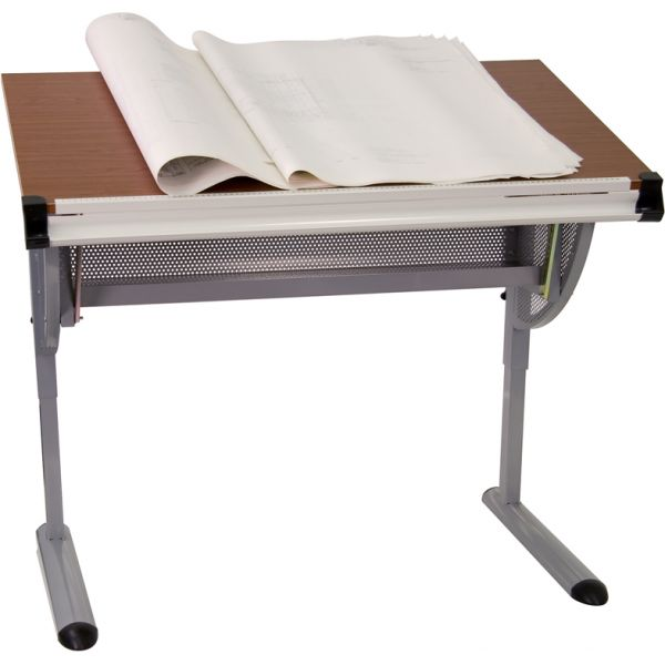Flash Furniture Adjustable Drawing and Drafting Table [NAN-JN-2433-GG]