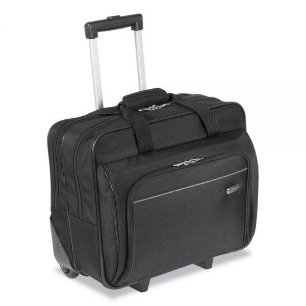 Targus Rolling Laptop Case, 1200D Polyester, 16-1/2 x 7-1/2 x 14, Black
