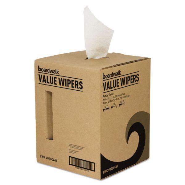 Boardwalk DRC Wipers, White, 10 x 12, Centerpull, 200/Box