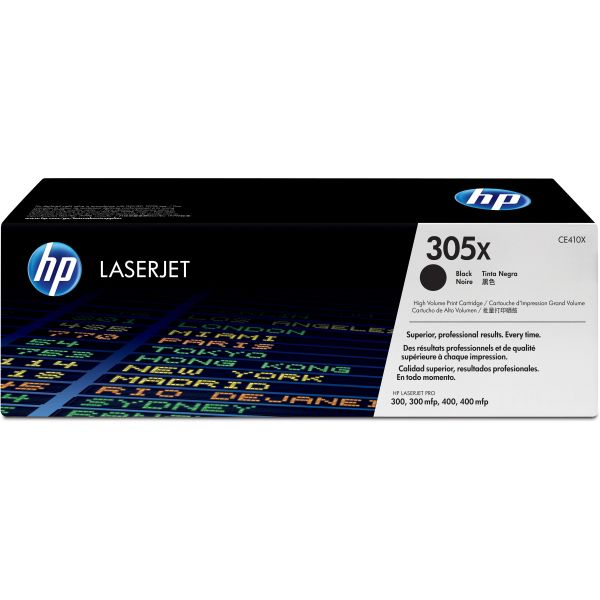 HP 305X Black High Yield Toner Cartridge (CE410X)