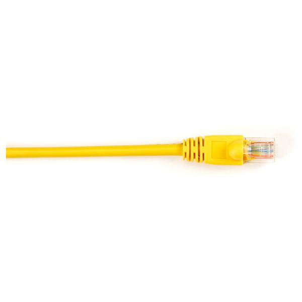 Black Box CAT5e Value Line Patch Cable, Stranded, Yellow, 1-ft. (0.3-m)