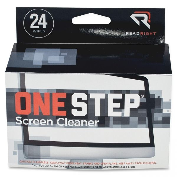 Read Right OneStep CRT Screen Cleaning Wipes