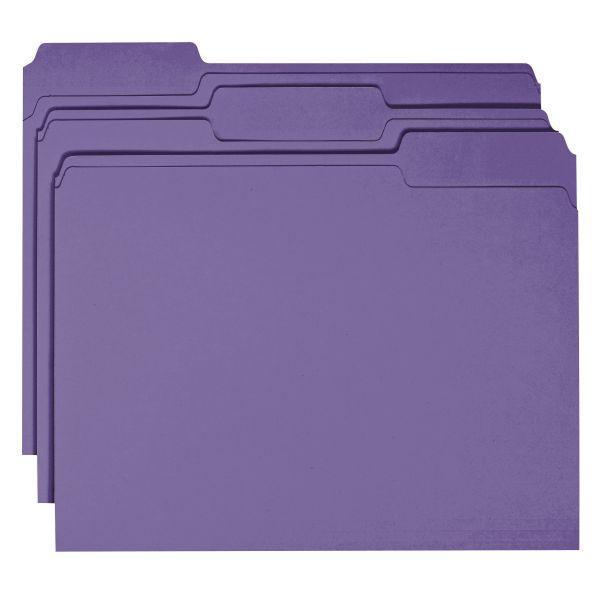 Smead Purple Colored File Folders
