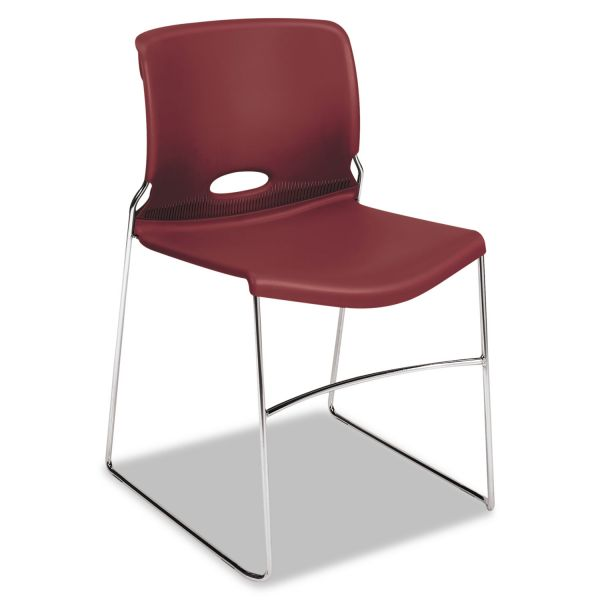 HON Olson Stacker Series Chair, Mulberry, 4/Carton