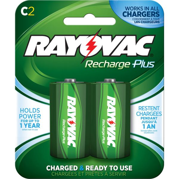 Rayovac Platinum Rechargeable C Batteries