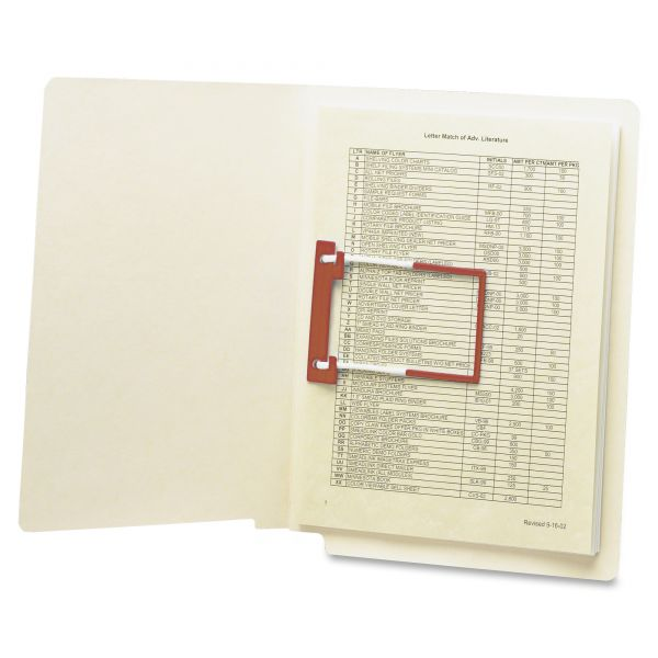 Smead U-Clip End Tab File Folders