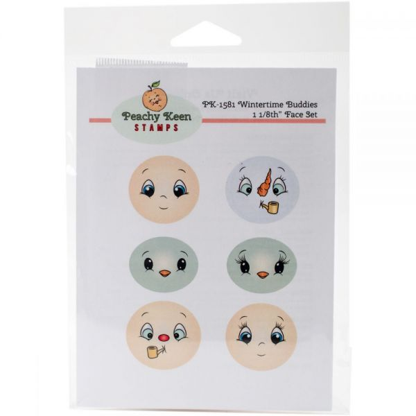 Peachy Keen Stamps Clear Face Assortment 6/Pkg