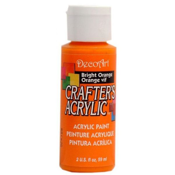 Deco Art Bright Orange Crafter's Acrylic Paint