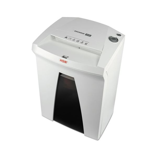 HSM of America SECURIO B24C Crosscut Office Shredder, White/Black