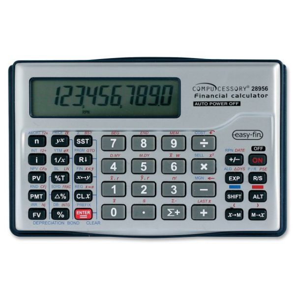 Compucessory 10-dgt Handheld Financial Calculator
