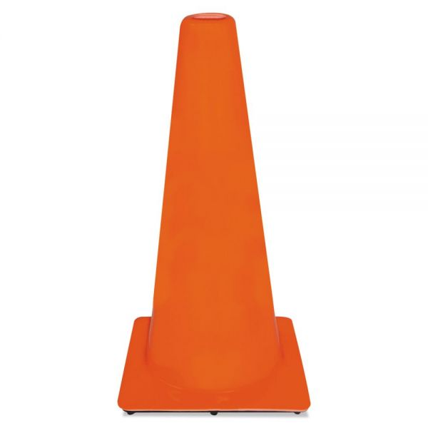 3M Non-Reflective Safety Cone, 13 x 13 x 28, Orange