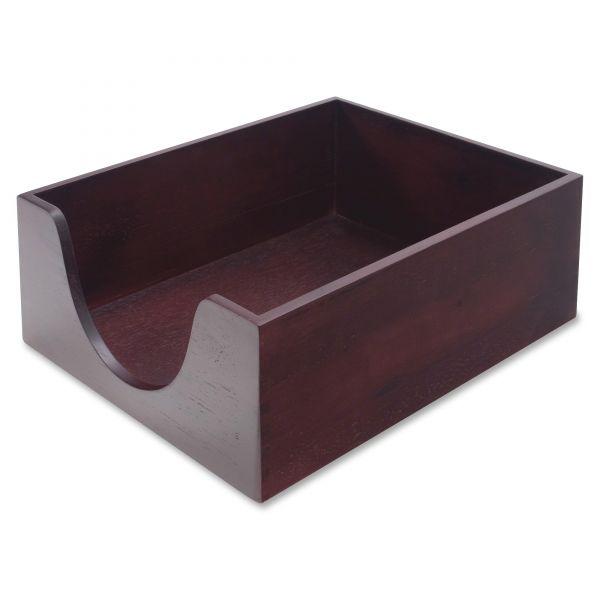 Carver Hardwood Legal Stackable Desk Tray, Mahogany