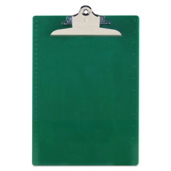 Saunders Recycled Green Plastic Clipboard