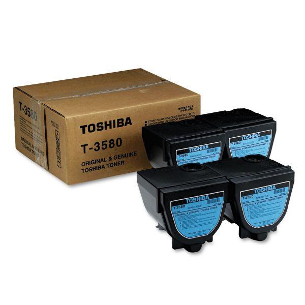 Toshiba T3580 Toner, 4000 Page-Yield, 4/Carton, Black