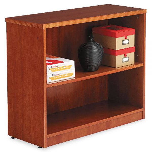 Alera Verona Veneer Series 2-Shelf Wood Veneer Bookcase