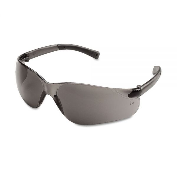 Crews BearKat Safety Glasses, Wraparound, Gray Lens