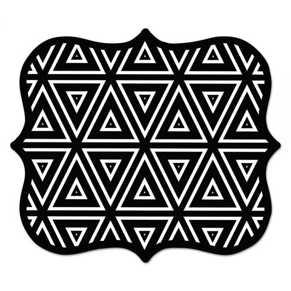 Fellowes Designer Mouse Pads, Geometric Triangles, 9 x 8 x 3/16