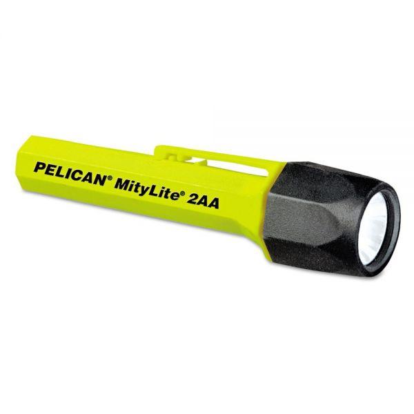 Pelican MityLite Flashlight, Xenon, 2AA, Yellow