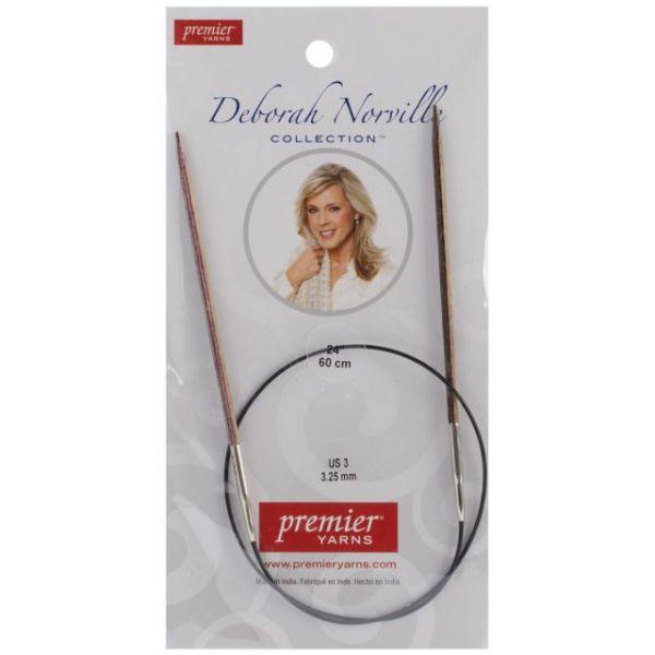 "Deborah Norville Fixed Circular Knitting Needles 24"""