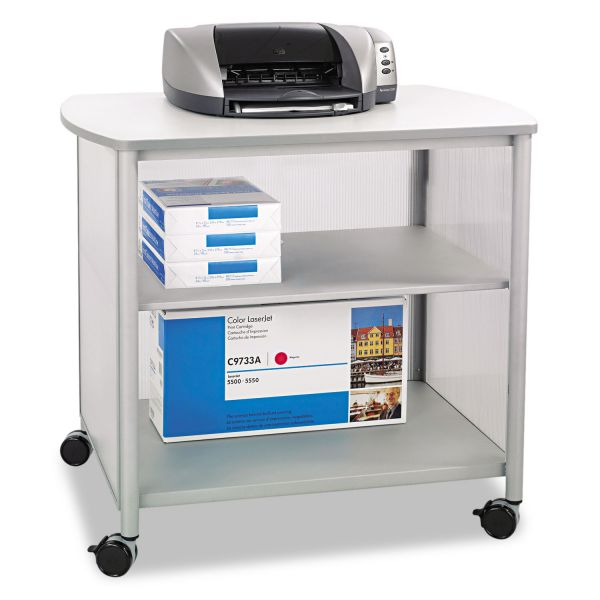 Safco Impromptu Deluxe Machine Stand, 34-3/4w x 25-1/2d x 31h, Gray