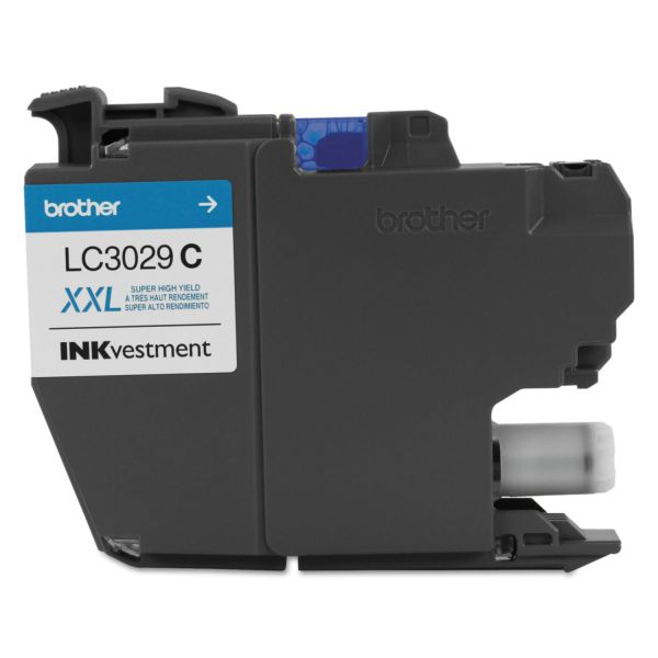 Brother LC3029C INKvestment Super High-Yield Cyan Ink Cartridge