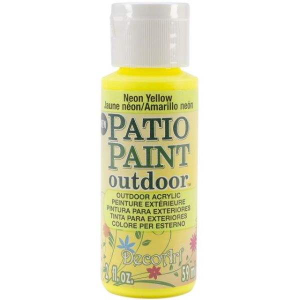 Deco Art Neon Yellow Patio Paint