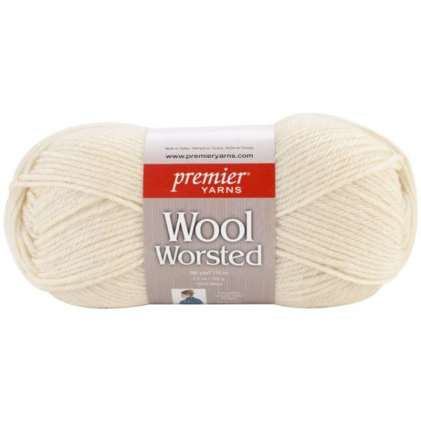 Premier Wool Worsted Yarn - Cream