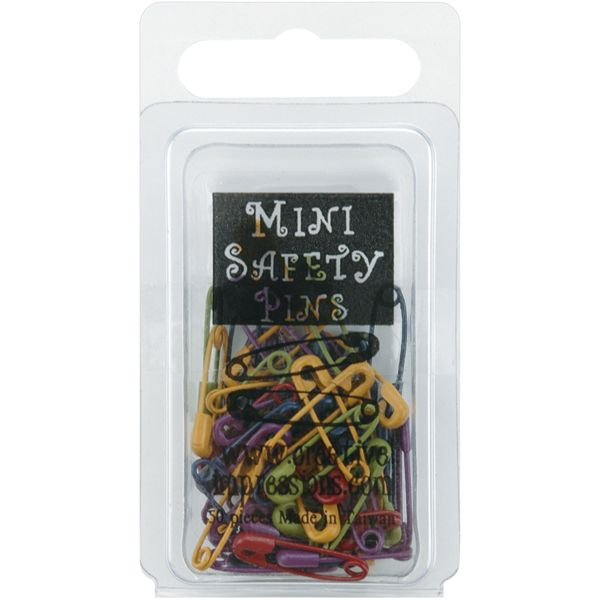 "Mini Painted Safety Pins .75"" 50/Pkg"