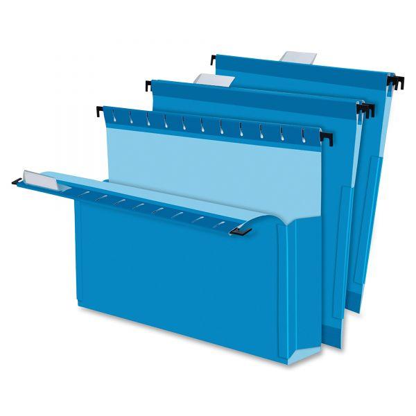 "Pendaflex SureHook Reinforced Hanging Box Files, 2"" Exp with Sides, Letter, Blue, 25/Box"