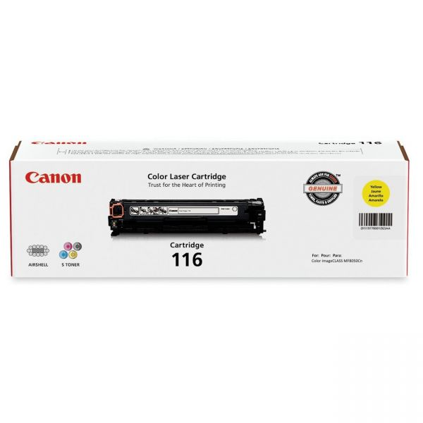 Canon 116 Yellow Toner Cartridge (CRTDG116-YW)