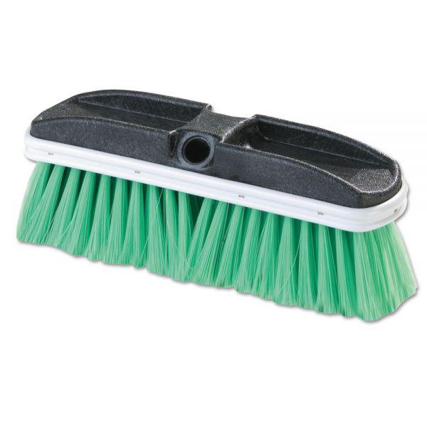 "Flo-Pac Vehicle Brush, Nylex, Green Bristles, 10"", 2 1/2"" Bristles"