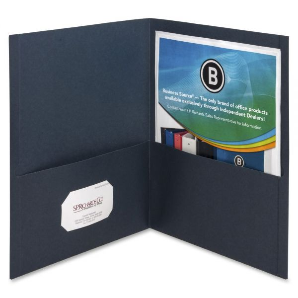 Business Source Midnight Blue Two Pocket Folders